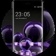 Theme for purple bubble shining wallpaper icon