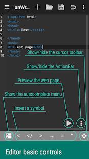 anWriter free HTML editor 4