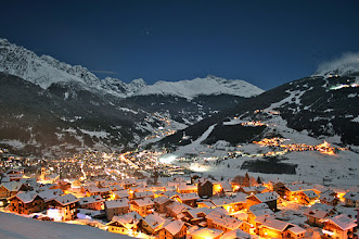 "Photo: Una veduta ""by night"" su Oga e su Bormio [by antoPO - thanks!]+"