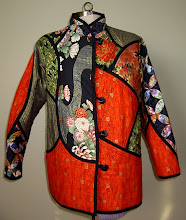 Photo: Trilogy Jacket form Akasha patterns. I made mine as a quilt as you go interpretation in vibrant oriental prints.