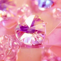 Pink Diamonds Live Wallpaper icon