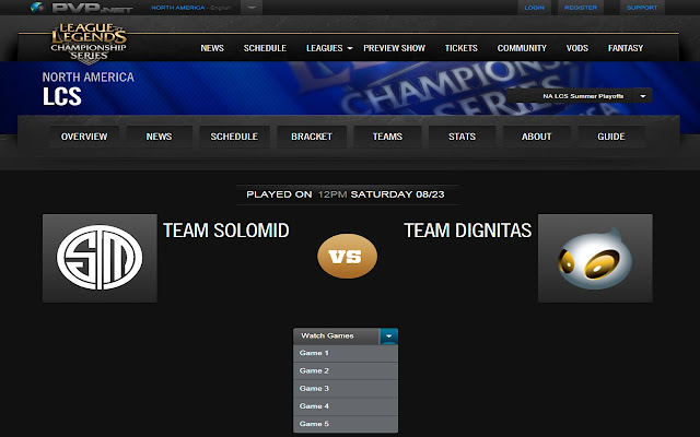LolEsports Match Dropdown Fix