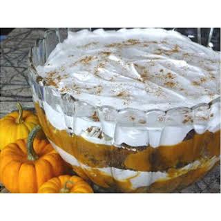 Pumpkin Gingerbread Trifle.