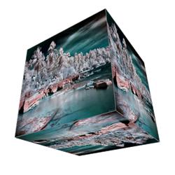 immagine infrarossi effetto cubo