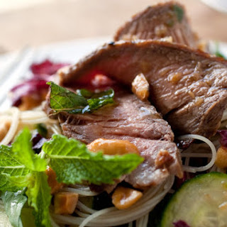 Vietnamese-Style Rice-Noodle and Steak Salad