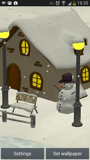 降雪3D - ライブ壁紙