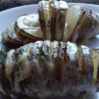 Gruyere and Rosemary Sliced Baked Potato