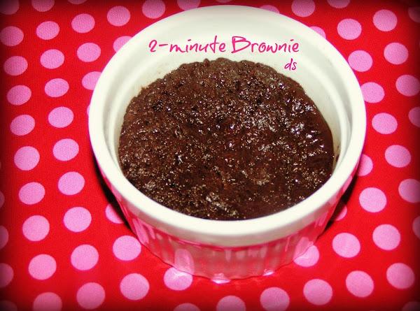 2-minute Mug Brownie Recipe