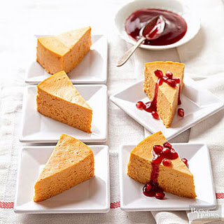 Pumpkin-Pomegranate Cheesecake