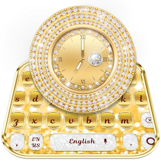 Gold Diamond Watch Keyboard