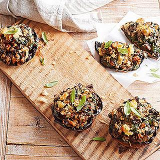 Plank-Smoked Portobello Mushrooms