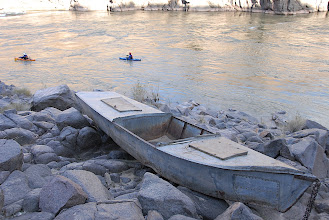 Photo: An older version of self support paddling through the Canyon
