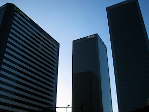Photo: Buildings in the office district: Sun, IBM, Mobistar
