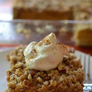 Pumpkin Pie Pecan Crunch Bars.