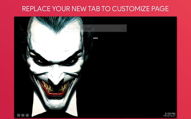 Joker Wallpaper HD Custom New Tab