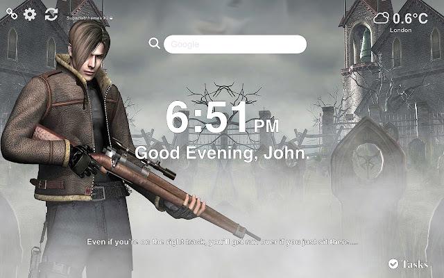 Resident Evil 4 Wallpaper Tab Theme