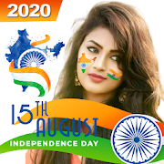 Indian Flag face photo editor & 15th August DP