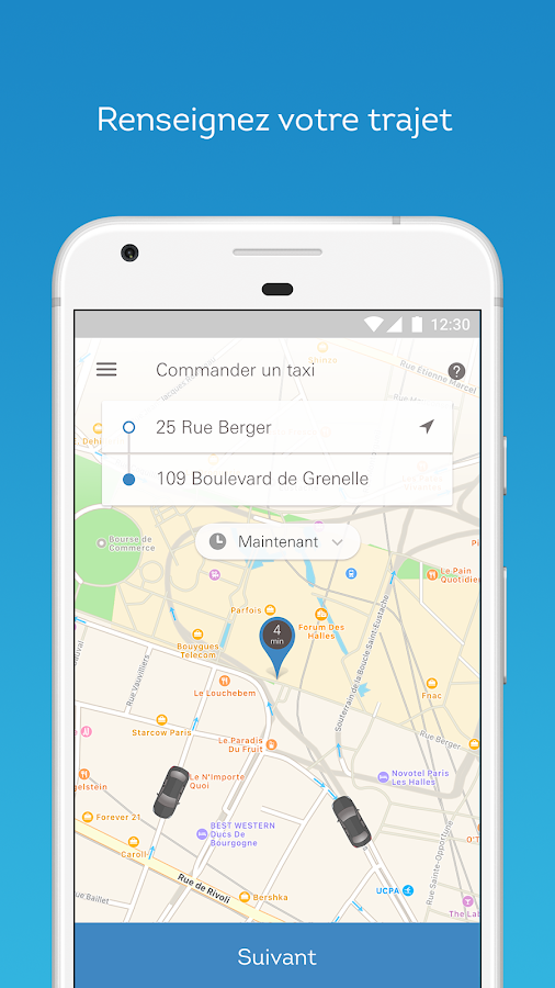 Taxis Bleus: solo or pooled- screenshot
