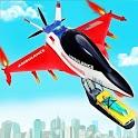 Flying Ambulance Air Jet Transform Robot Games icon