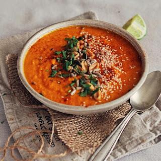 Inner Glow Carrot, Sweet Potato & Red Lentil Soup.