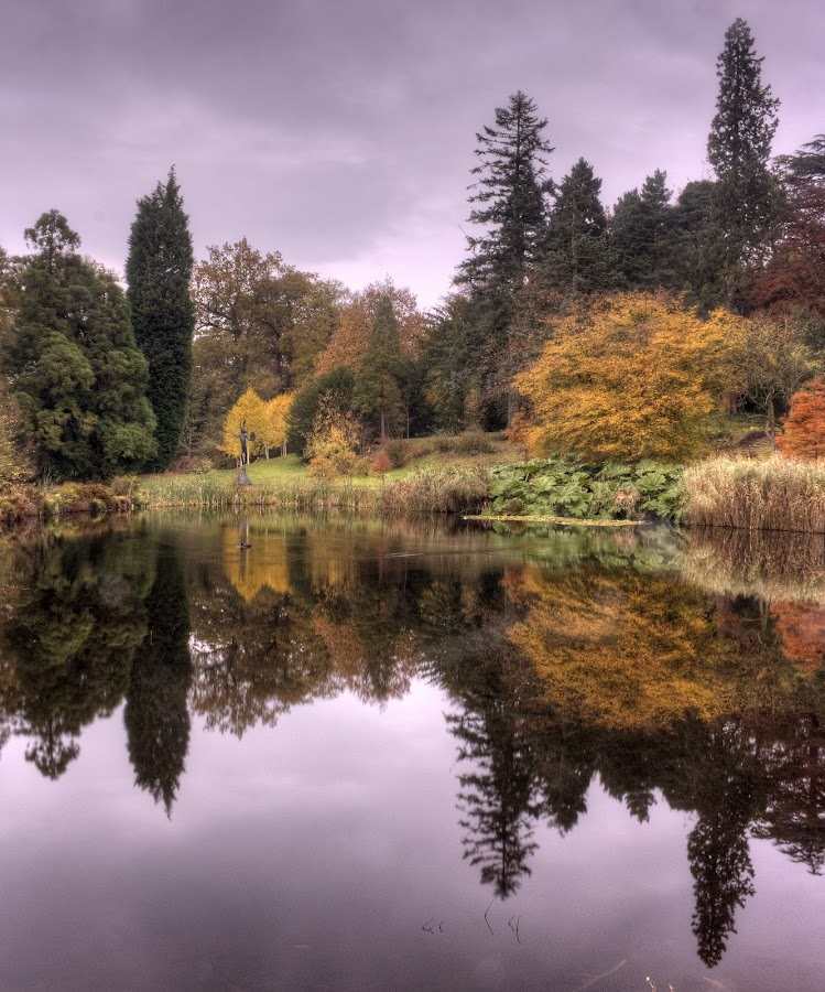 Grotto Pond by Keith Britton - Landscapes Waterscapes