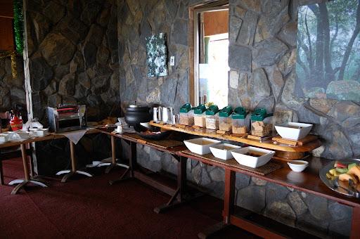 ビナブラマウンテンロッジのレストランのコーンフレークコーナーの写真