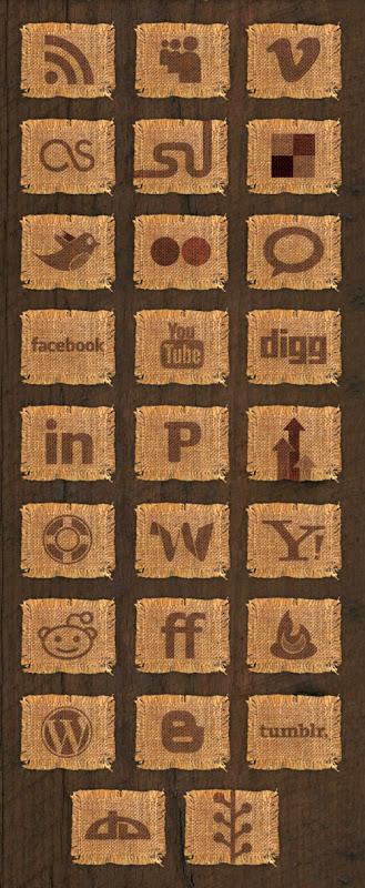 Иконки на ковриках из мешковины