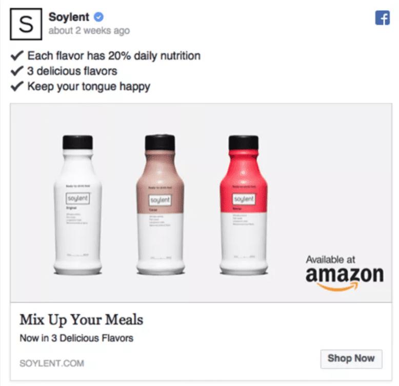 Best Facebook Ad Examples - Soylent
