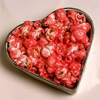 Marshmallow-popcorn Hearts