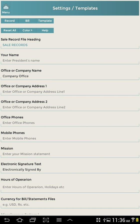 Customer Events Records CRM-L- screenshot