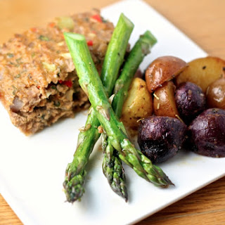 Elevated Meatloaf & Blue Potatoes