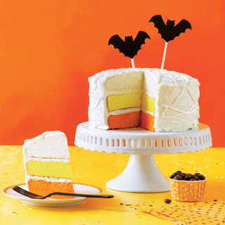 Mummified Candy-Corn Cake