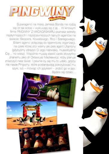 Tył ulotki filmu 'Pingwiny Z Madagaskaru'