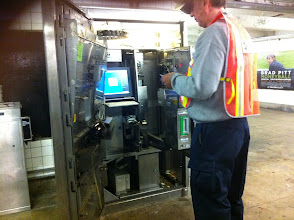 Photo: In case you've ever wondered what's inside a Metrocard machine.