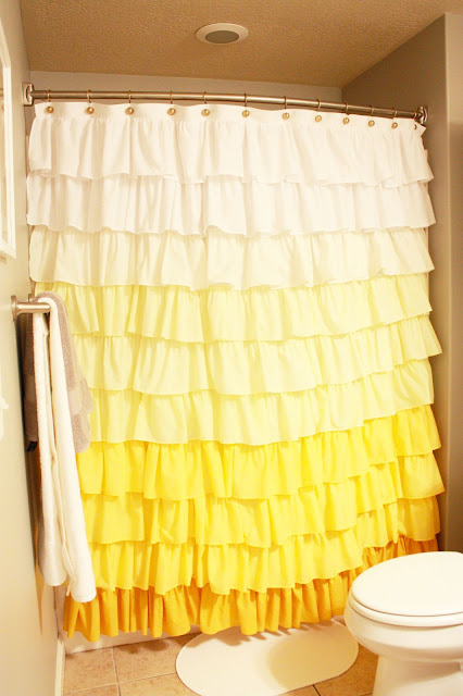 Patron Tuto Rideau de douche à volant / Tutoriel shower curtain
