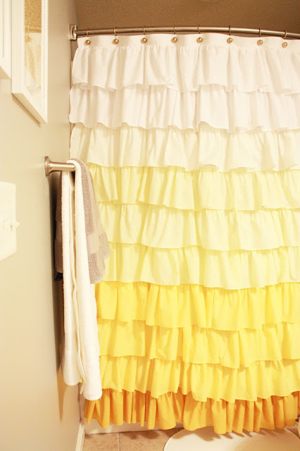 Anthropologie Ruffle Shower Curtain Tutorial - Elle Apparel by ...
