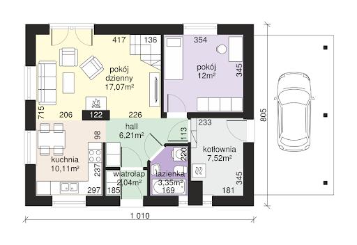 Dom przy Imbirowej 4 - Rzut parteru
