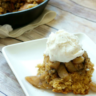 Vegan Salted Caramel Apple Cobbler