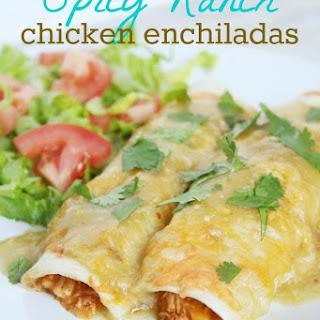 Spicy Ranch Chicken Enchiladas Recipe