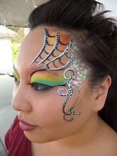 Photo: Pretty face painting by Heidi from La Verne.Book Heidi by calling 888-750-7024