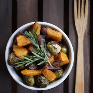 Roasted Thyme and Sage Harvest Vegetables.