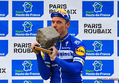 Het is wat anders dan na Parijs-Roubaix... Kassei van sneeuw voor Philippe Gilbert