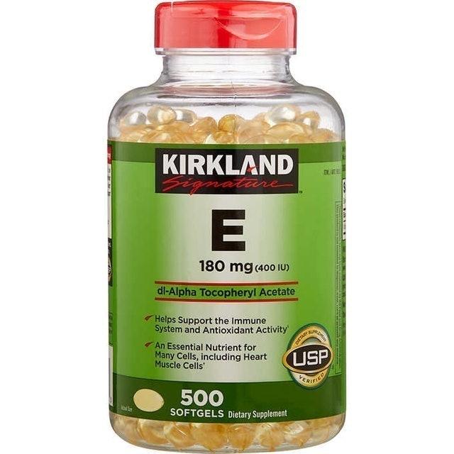 1. Kirkland Signature Vitamin E 400IU dl-Alpha