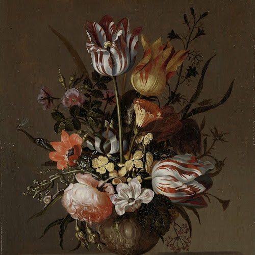 Still Life With A Vase Of Flowers And A Dead Frog Jacob Marrel
