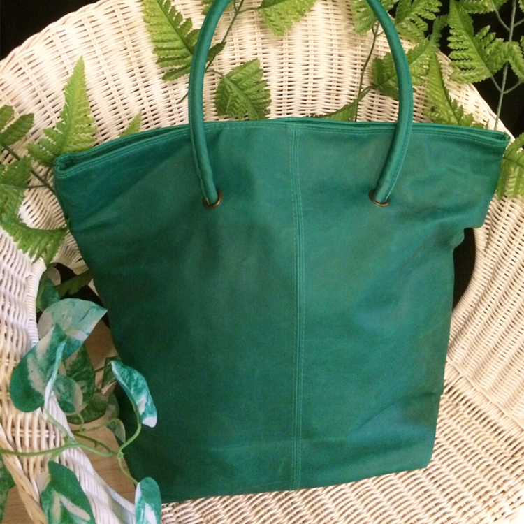 Green Tall tote bag by Le Tea Boutique