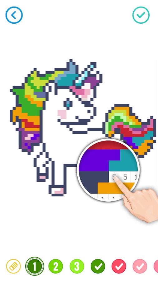 Pixel Sandbox Cartoon Color By Number Coloring