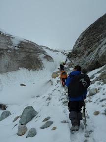 Approche du glacier Huayna Potosi