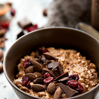 Chocolate-Covered Almond Overnight Oats