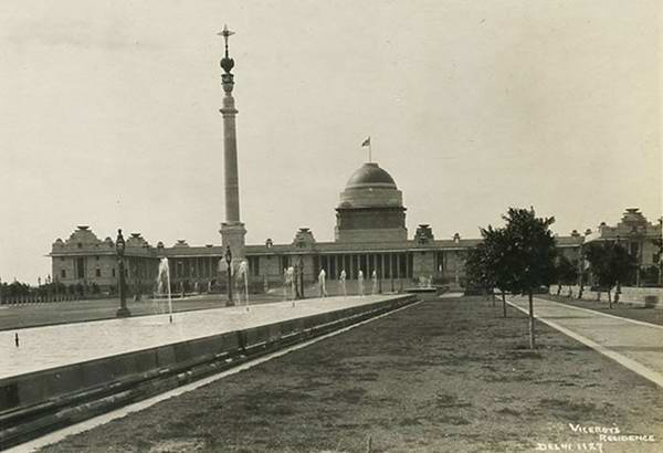 Old India Photos - Lord Viceroy Residence in Delhi, 1927