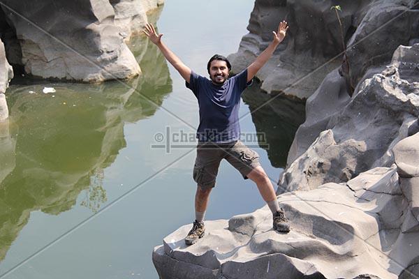 Bhavesh enjoying time at potholes